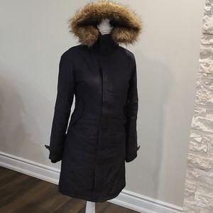 Aritzia Tna Black warm removalable hooded parka